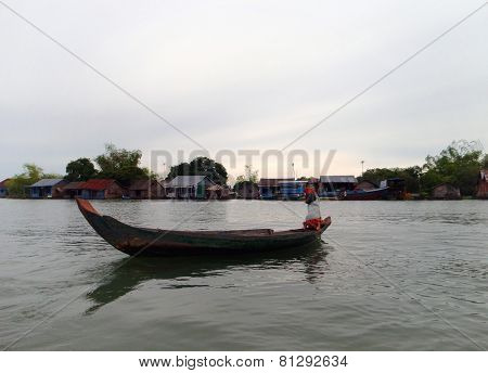Riverside Scenery In Laos