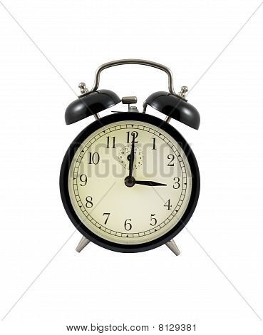 Retro Alarm Clock Showing Three Hours