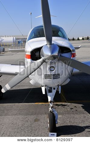 Modern Single-Engine Airplane