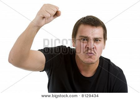 Man With Fist Up