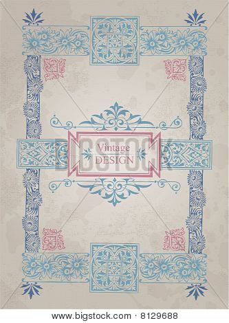 antique frame background (vector)