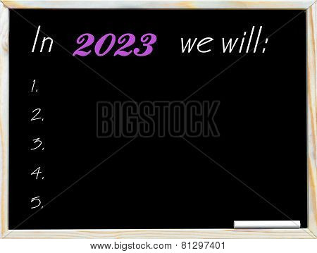 In 2023 We Will