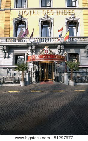 Hotel Des Indes, old famous hotel in the centre of The Hague holland