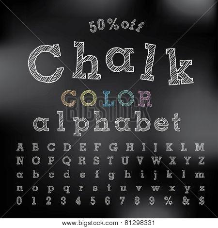 vector chalkboard alphabet