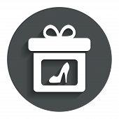 pic of shoe-box  - Gift box sign icon - JPG