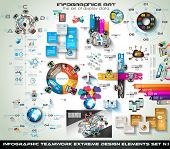 image of graph  - Infographic teamwork Mega Collection - JPG