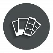 stock photo of strip  - Photo frame template sign icon - JPG
