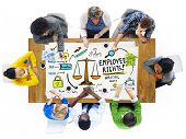 stock photo of equality  - Employee Rights Employment Equality Job People Meeting Concept - JPG