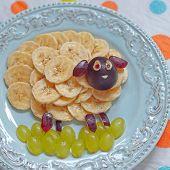 stock photo of baby sheep  - Funny sheep shape snack for kids lunch - JPG