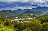 stock photo of gatlinburg  - The popular resort town of Gatlinburg - JPG