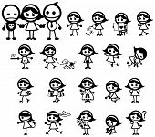 foto of girly  - Miss Girly expression and activity icon collection set create by vector - JPG