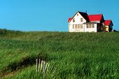 picture of farm-house  - Little house in the prairie - JPG