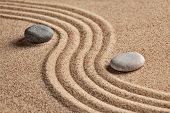 stock photo of calm  - Japanese Zen stone garden  - JPG