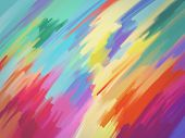 stock photo of abstract painting  - Digital Painting Illustration of Abstract Textured Colorful Background - JPG