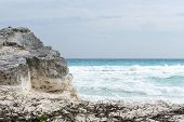 pic of yucatan  - A view of the ocean in Cancun beach on the Yucatan - JPG
