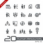 stock photo of human resource management  - Icons Set of Human Resources and Business Management  - JPG