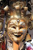 foto of venetian carnival  - Closeup of a typical venetian carnival mask - JPG