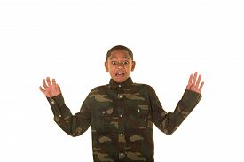picture of tween  - Young tween isolated on a white background - JPG