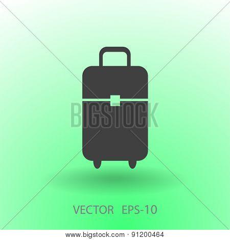 Flat icon of bag