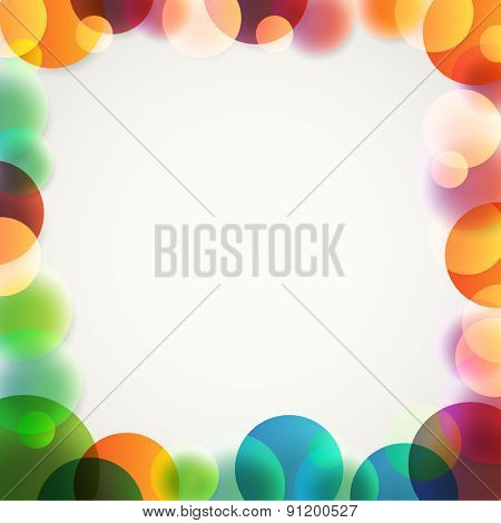 Abstract vector background of different color circles. Design concept