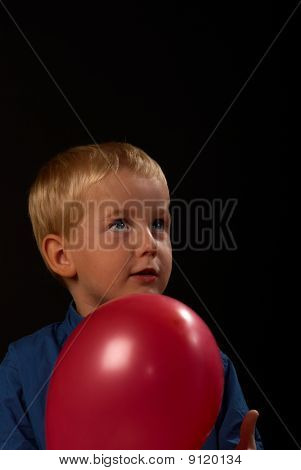 Happy Boy With Balloon