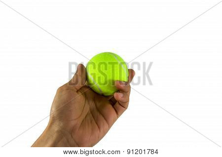 Hand Hold Tennis Ball