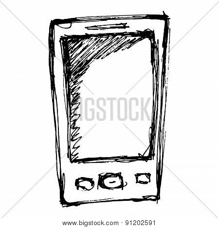 Rough Sketch Of A Mobile Phone