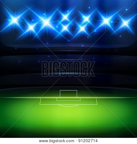 Soccer Background With Spotlight