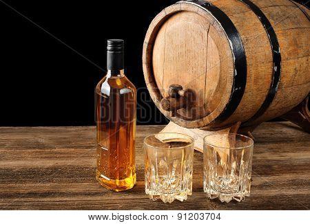 Whiskey And Oak Barrel