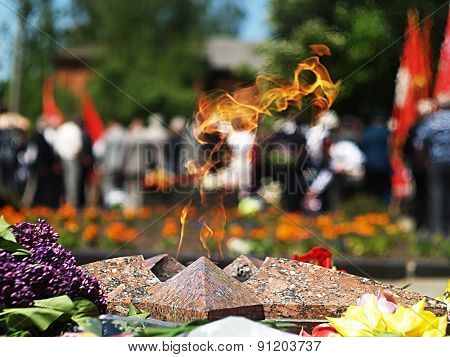 Eternal Flame memorial to the fallen