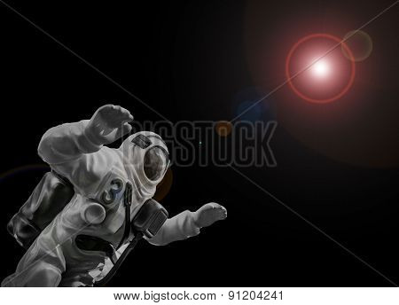 Astronaut And Space