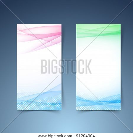 Modern Transparent Vertical Smooth Wave Card Collection