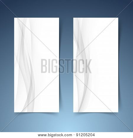 Smooth Abstract Swoosh Wave Hi-tech Banner Layout