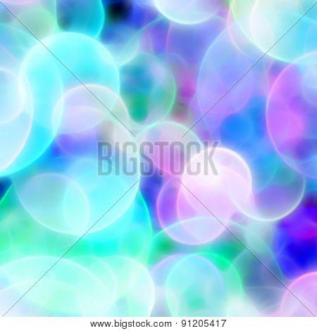 Blurred Blue Circles Background