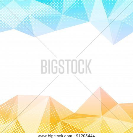 Crystal Structure Border Bright Colorful Background