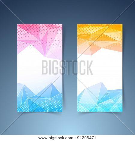 Crystal Pattern Vertical Flyer Template Set