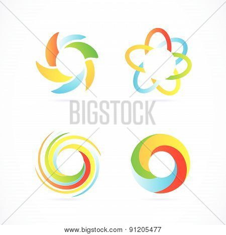 Company logo elements set