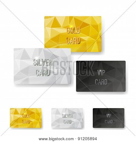 Crystal Pattern Structure Premium Card Set