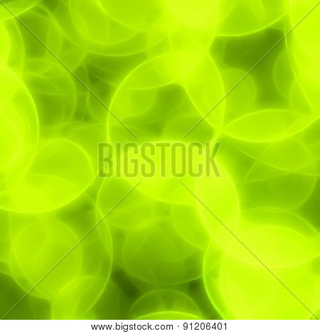 Blurred Green Circles Background