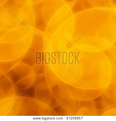 Blurred Yellow Circles Background