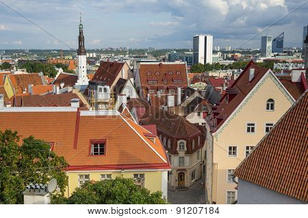 Panorama Of Old Tallinn
