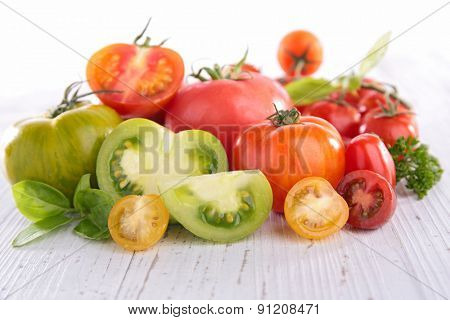 assortment of tomato