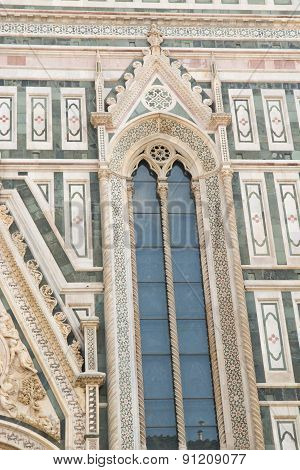 Side Window Of The Cathedral Of Brunelleschi