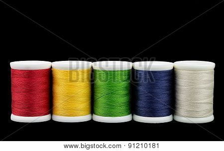Coils With Color Threads.
