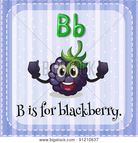 Flashcard letter B is for blackberry