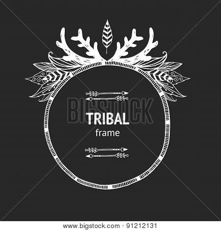 Vector tribal frame