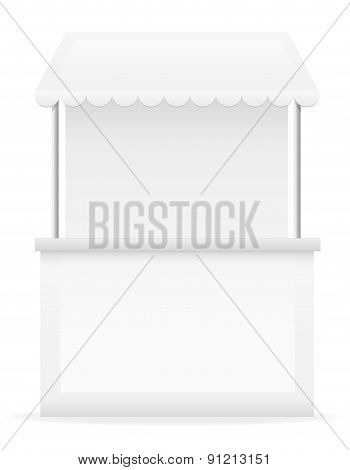 White Stall Vector Illustration