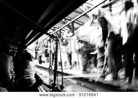 Photos In The Passenger Ship View Abstract Blur Motion.