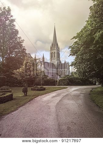 Park in front of the St. Mary's Cathedral, Killarney, Ireland