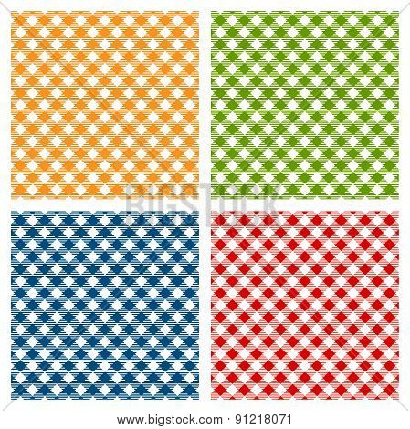 WebCheckered tablecloth seamless pattern, diagonal
